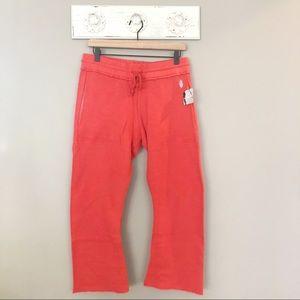 Free People Movement Red Reyes Crop Sweatpants